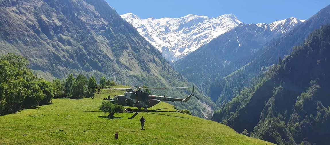 दार्चुलाको घाँटीबगर इलाकामा पुग्यो नेपाली सेना