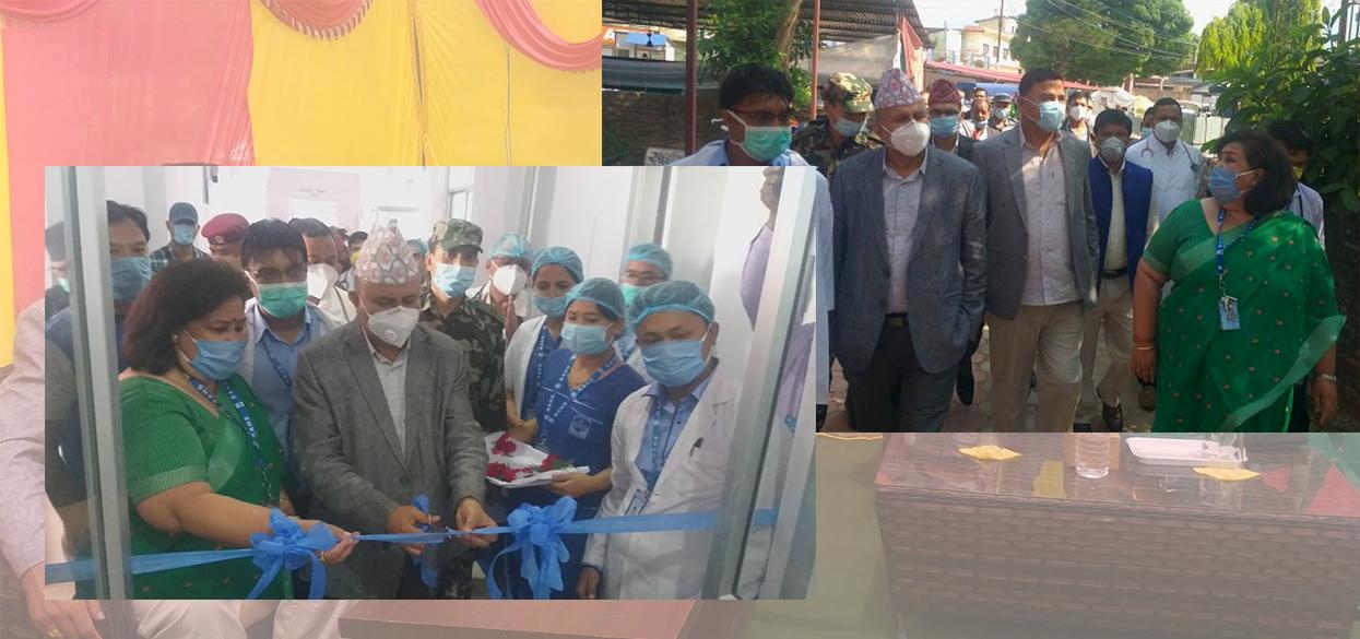 बल्लबल्ल राप्ती स्वास्थ्य विज्ञान प्रतिष्ठान छिरे प्रदेशका मुख्यमन्त्री शंकर पोखरेल