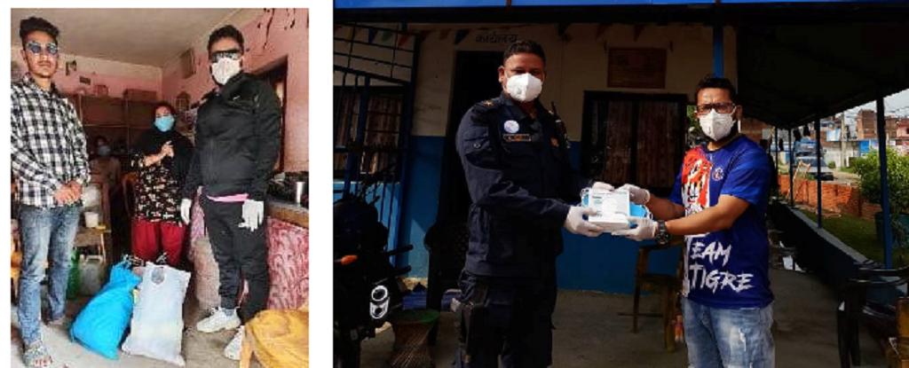 जन्मदिनमा मृगौला पीडितलाई १८ हजार रुपैयाँ र खाद्यान्न तथा सुरक्षाकर्मीलाई मास्क सहयोग