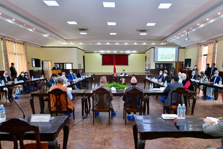 बालुवाटारमा विपद् व्यवस्थापन परिषद्को बैठक जारी, देउवा पनि सहभागी