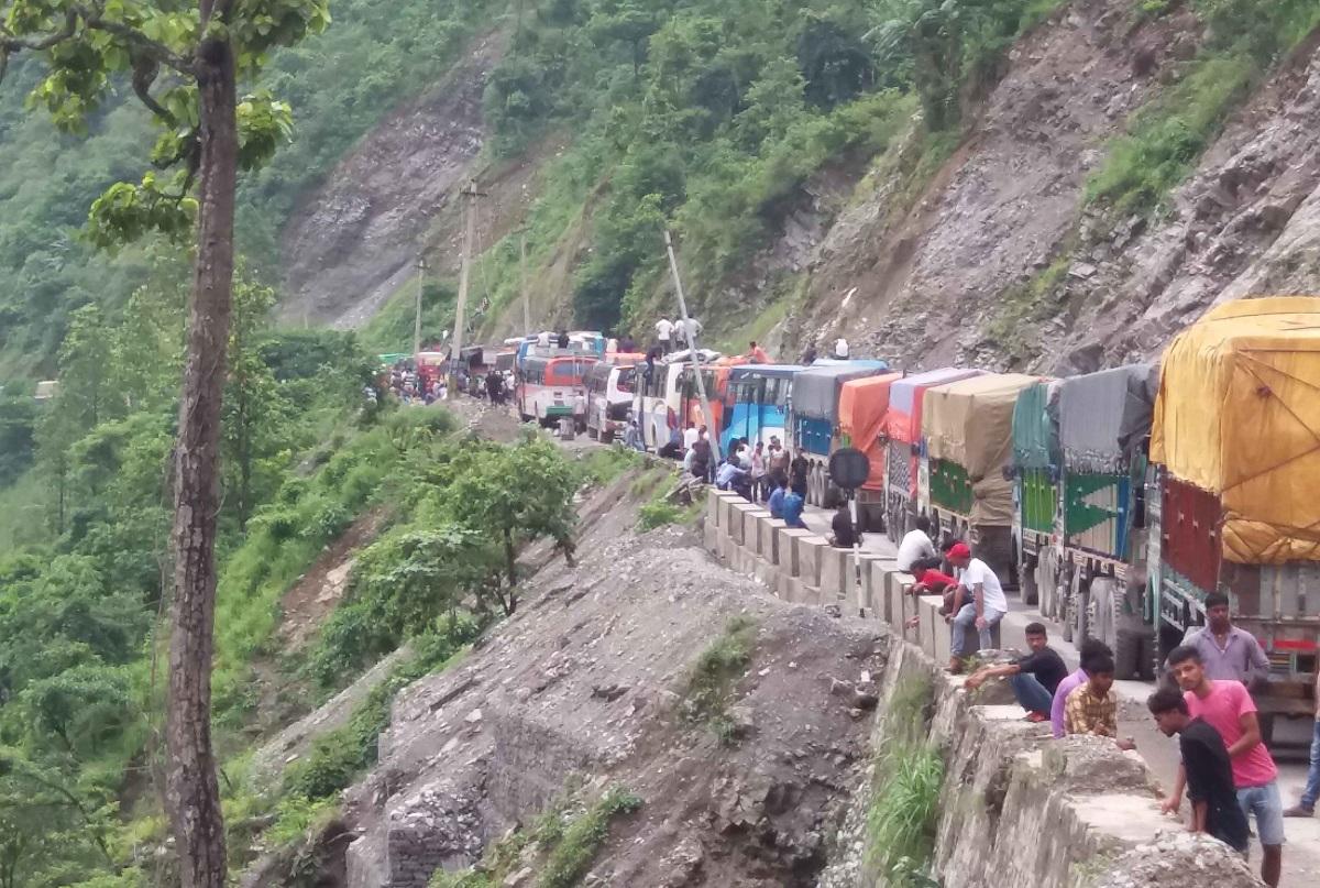 नारायणगढ-मुग्लिन सडक फेरि अवरुद्ध
