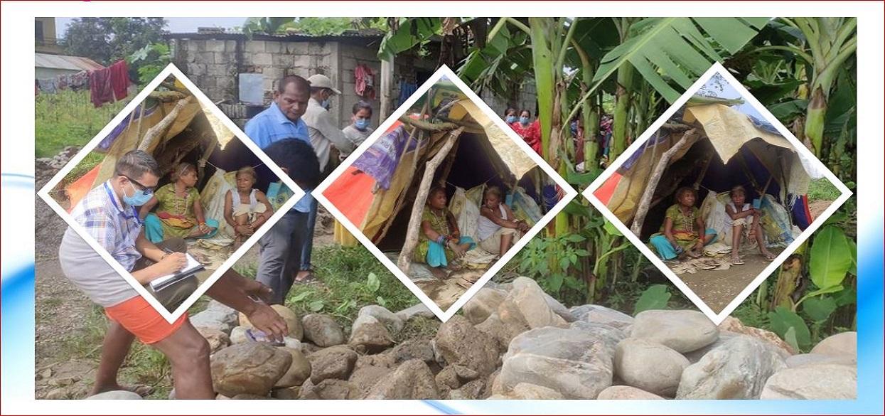 'गरिबीको कहर, स्याउलाको छाप्रोको भर'