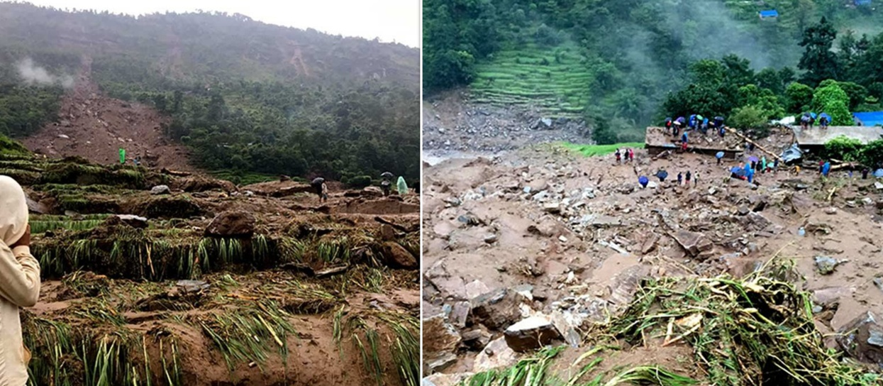 बागलुङमा विपद् : ४१ परिवार विस्थापित, ७ घर उच्च जोखिममा