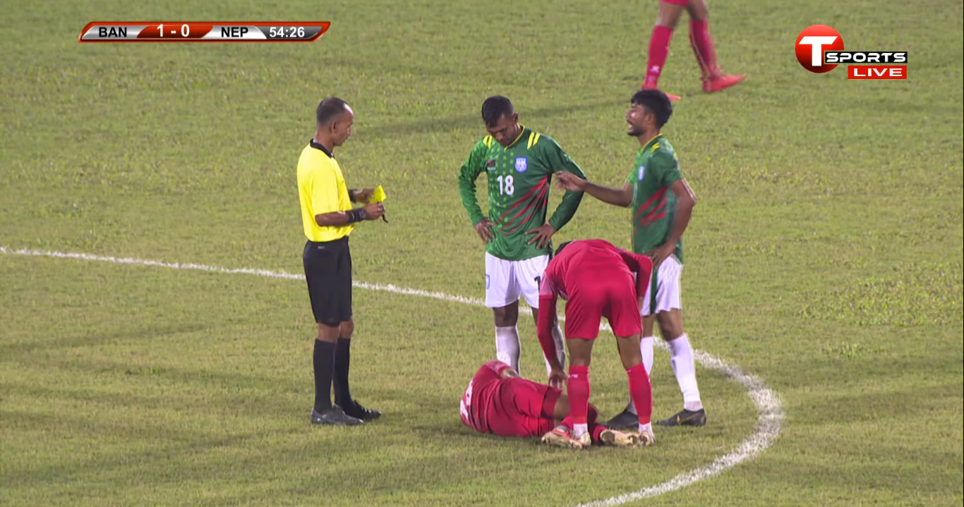 मैत्रीपूर्ण फुटवलमा बंगलादेशसँग नेपाल २–० ले पराजित