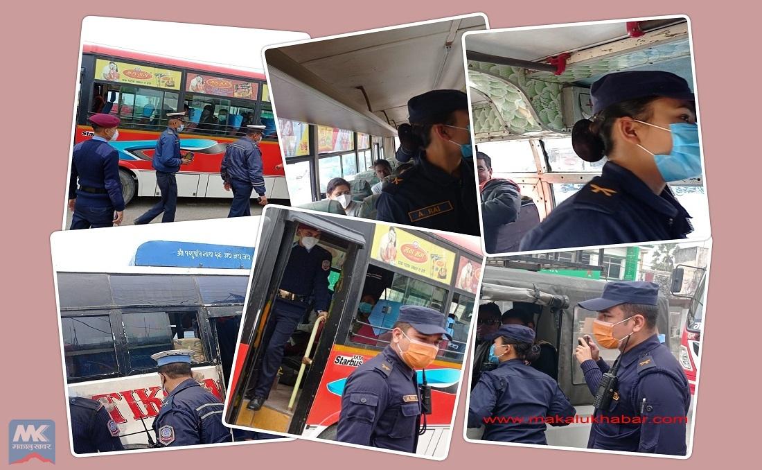 मोरङ प्रहरीको विशेष सुरक्षा अभियान– सार्वजनिक स्थानमा यातायातलाई भयरहित बनाउनमा जोड