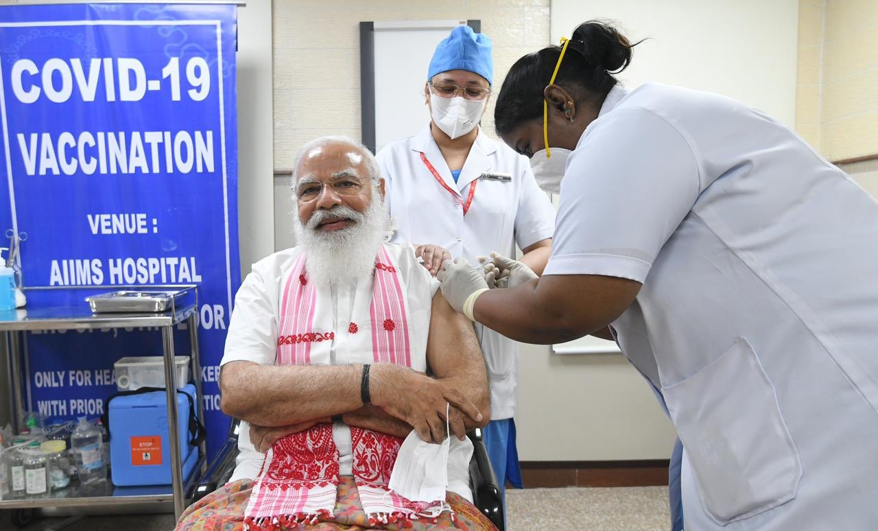 भारतमा एकैदिन ८० लाखभन्दा धेरैलाई लगाइयो भ्याक्सिन