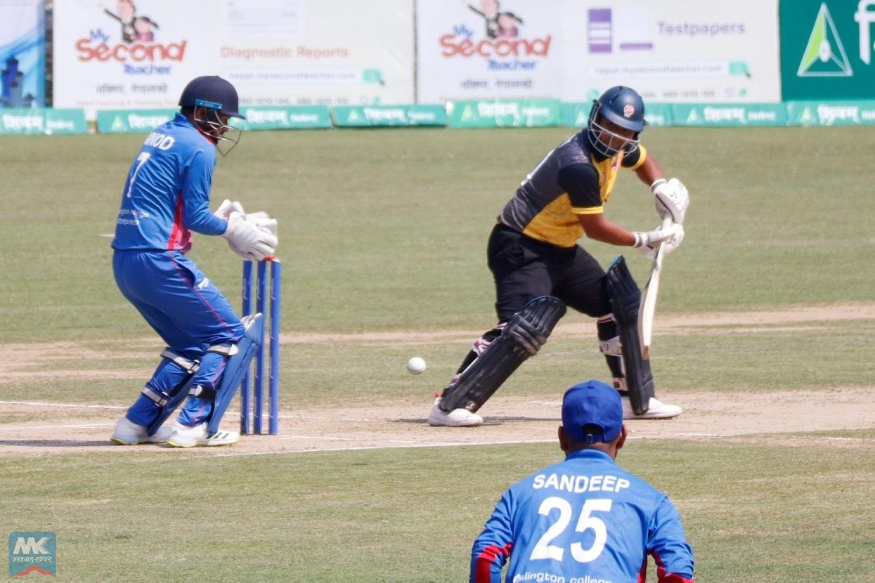 तस्बिरमा नेपाल र मलेसियाबीचको क्रिकेट