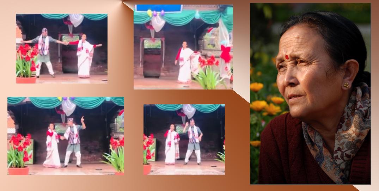 'फूल बुट्टे सारी'मा अनुराधा कोइरालाको नृत्य, मदनकृष्णकाे प्रशंसा