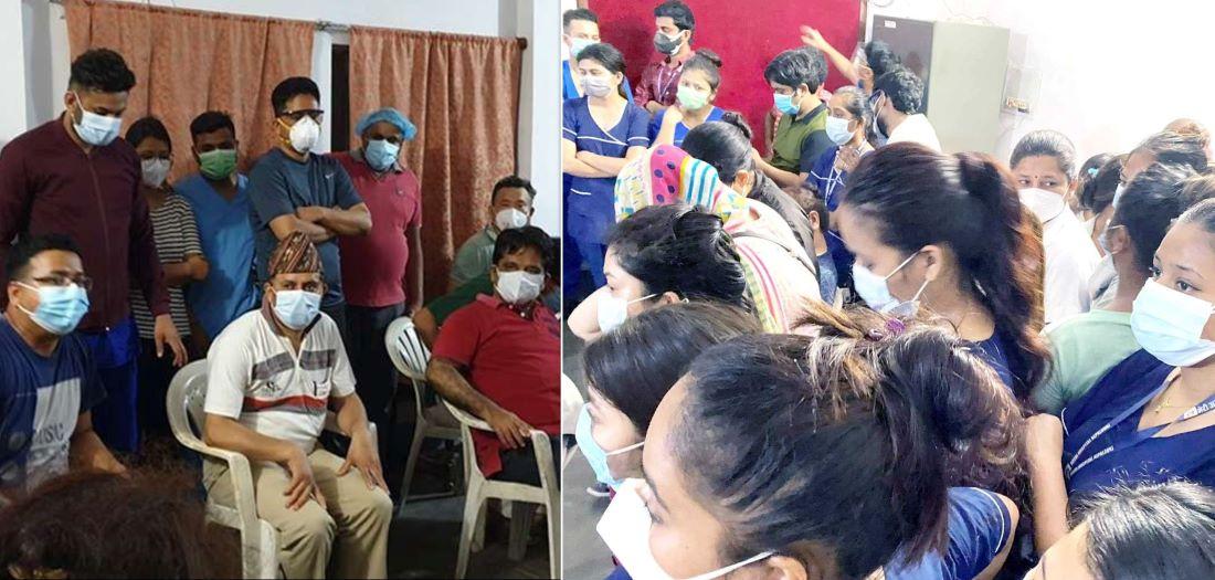 भाइरससँगै भिडको जोखिममा स्वास्थ्यकर्मी : भेरीमा सांघातिक हमला