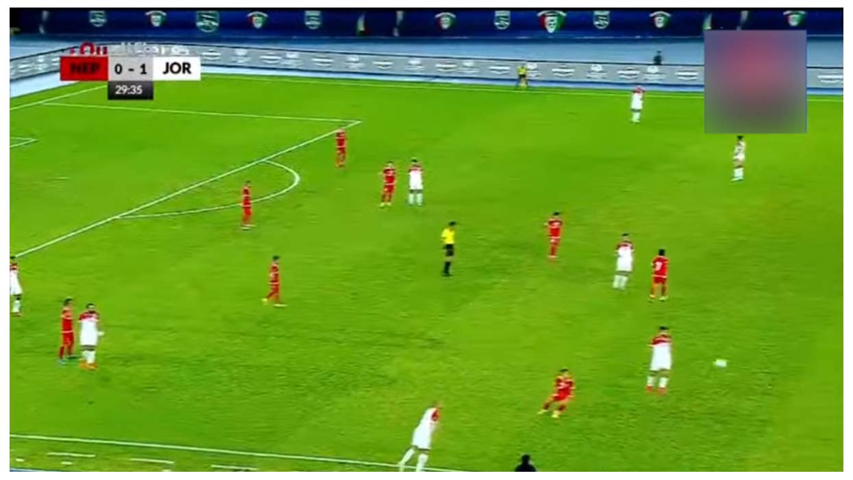 पहिलो हाफमा नेपाल १-० ले पछाडि