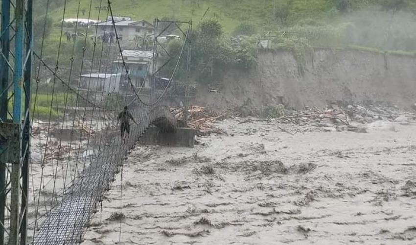 बूढीगङ्गा नदीको कटानका कारण दर्जन बस्ती जोखिममा