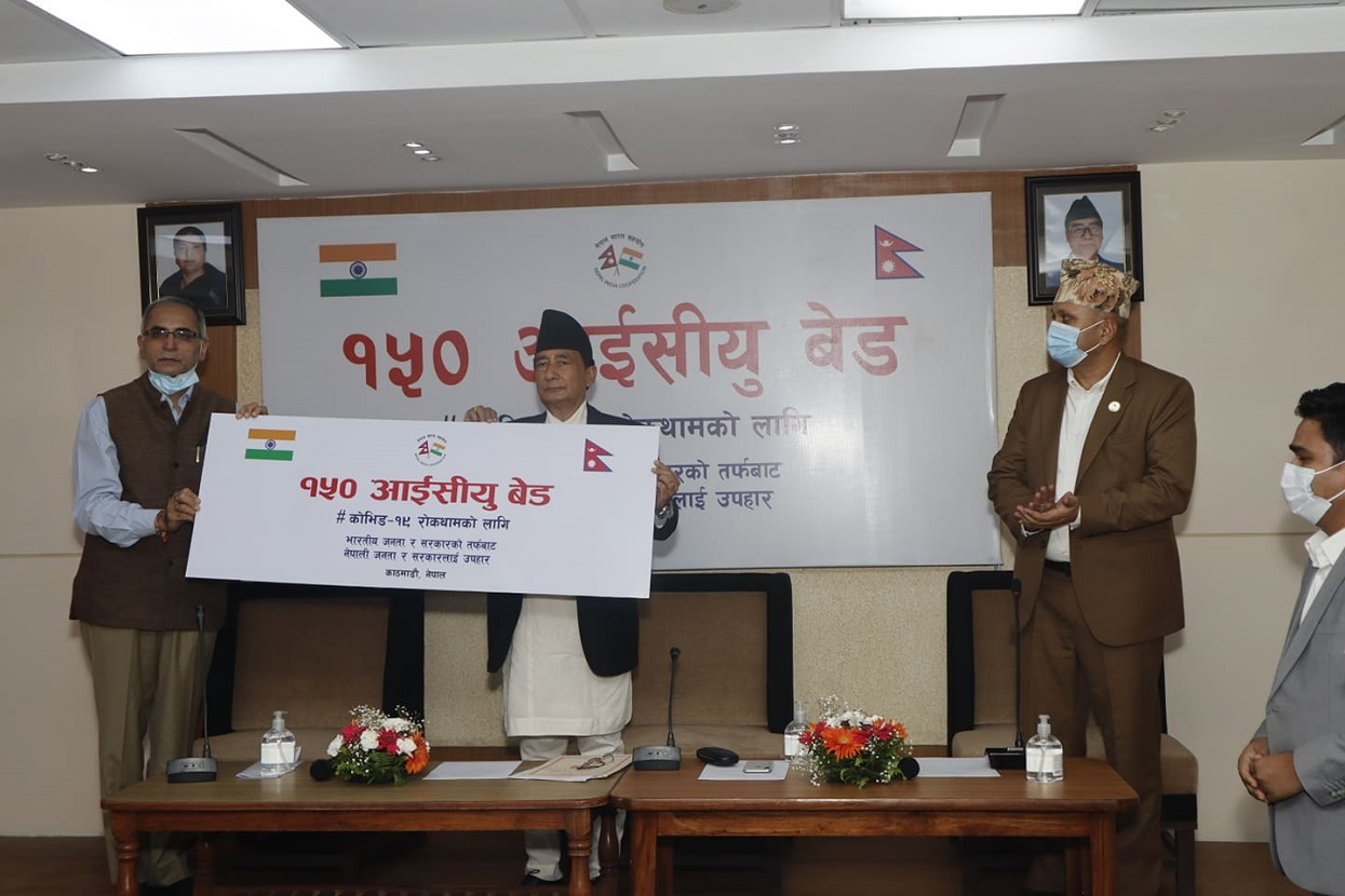 भारतद्वारा नेपाललाई १५० थान आईसीयू बेड हस्तान्तरण (तस्बिरहरू)