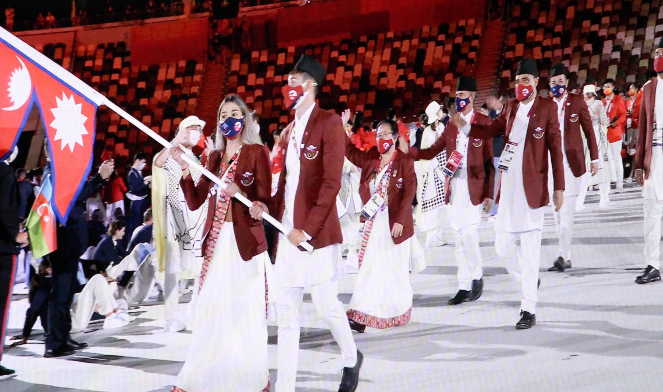 टोकियो ओलम्पिक उद्घाटनः खालि स्टेडियममा मार्चपास, ३५० करोडले हेरे लाइभ
