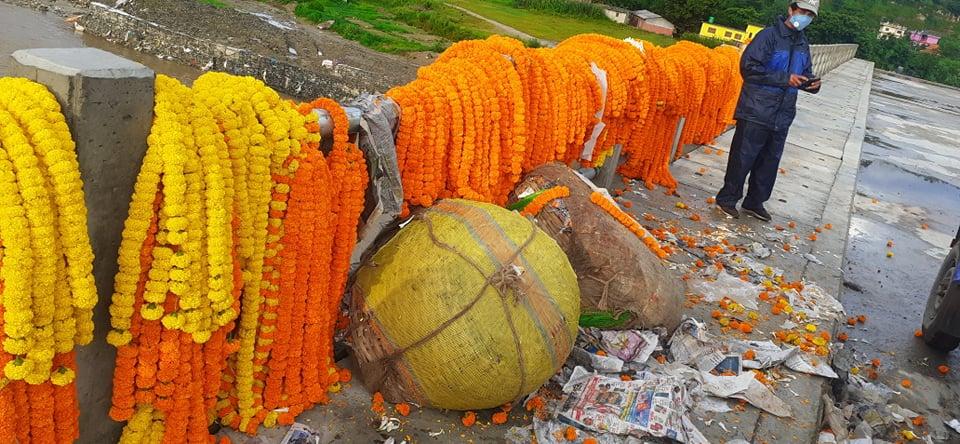 किसानले गरे भारतबाट आयात गरिएको फूल जफत गरी नष्ट
