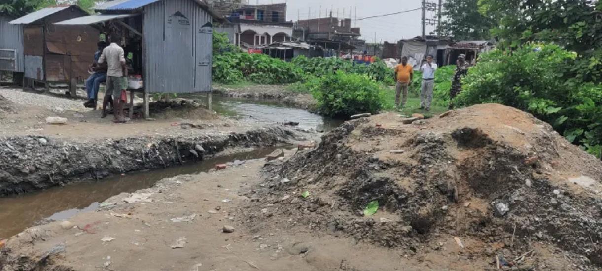 इस्लामपुर बस्तीको कल्भर्ट निर्माण एसएसबीले राेक्यो