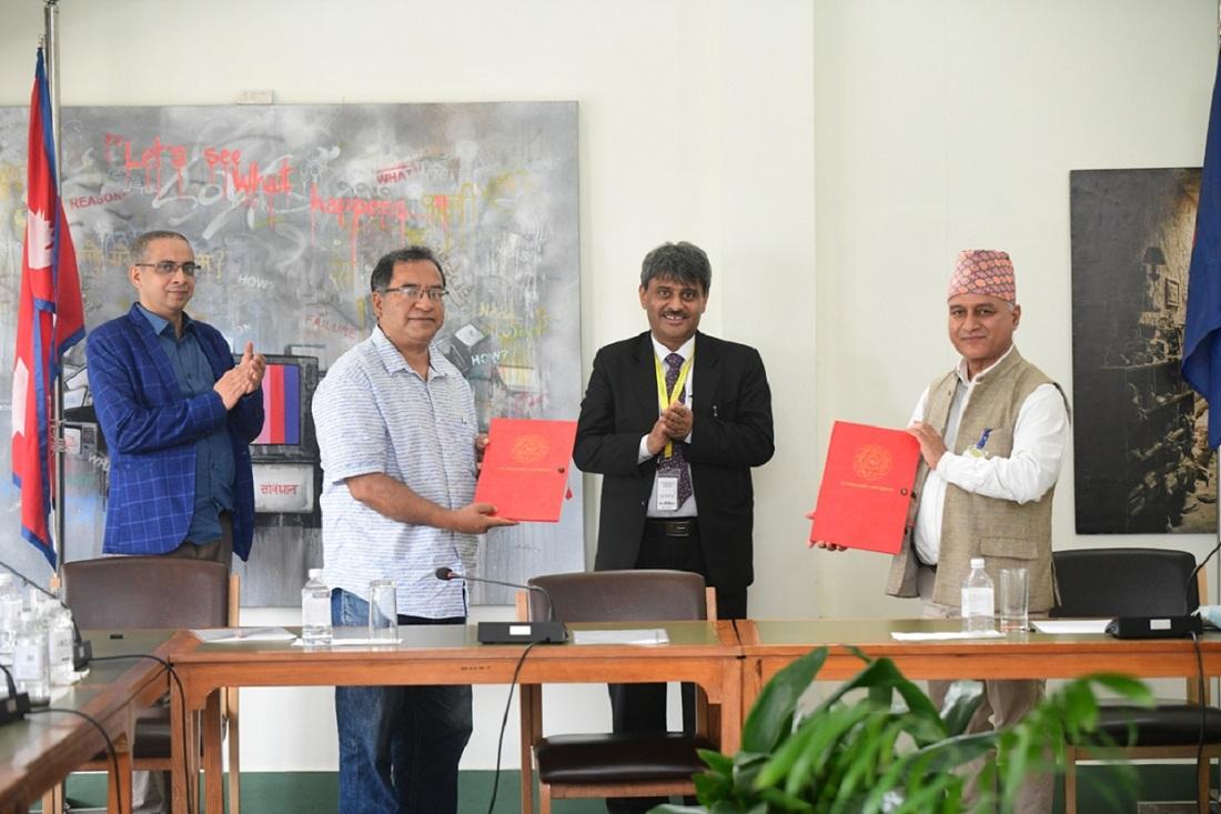 नेपाल वातावरण पत्रकार समूह र काठमाडौं विश्वविद्यालयबीच सम्झौता