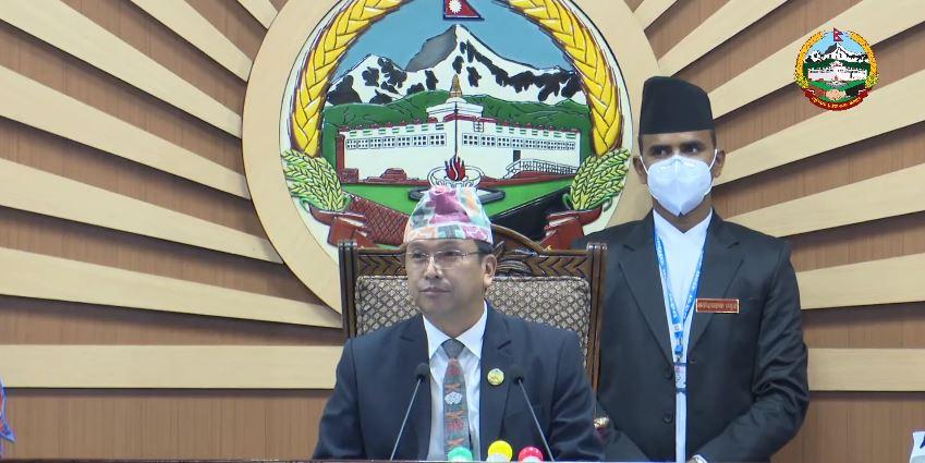 लुम्बिनी प्रदेश : मुख्यमन्त्रीको राजीनामाबारे सदनलाई जानकारी, बैठक स्थगित