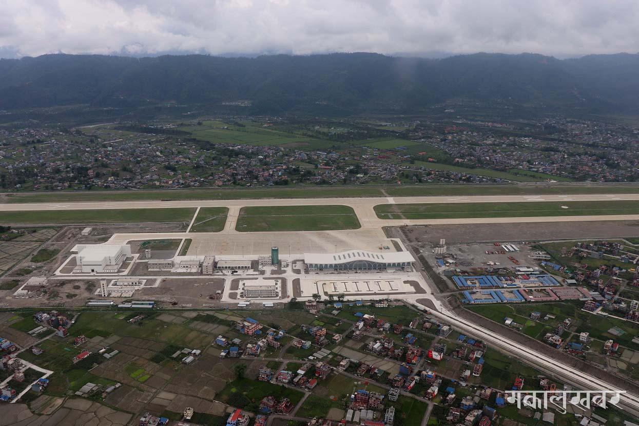 पोखरामा निर्माणाधीन अन्तर्राष्ट्रिय क्षेत्रीय विमानस्थल (तस्बिरहरू)