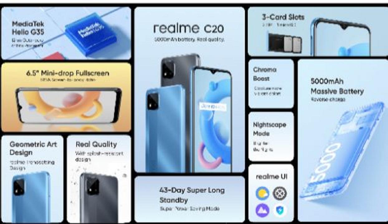 रियलमीको दुई नयाँ स्मार्टफोन 'सी–२०' र 'सी–२१' नेपाली बजारमा