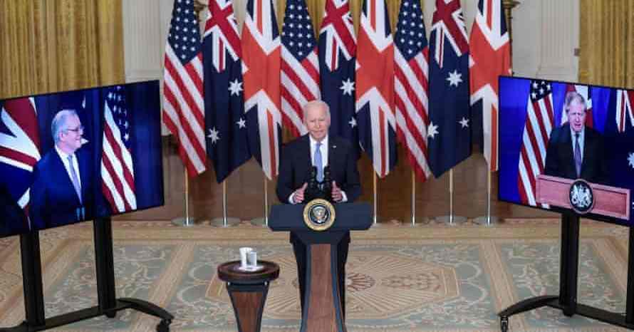 चीनलाई चुनौती दिन बेलायत, अमेरिका र अस्ट्रेलियाबीच सम्झौता