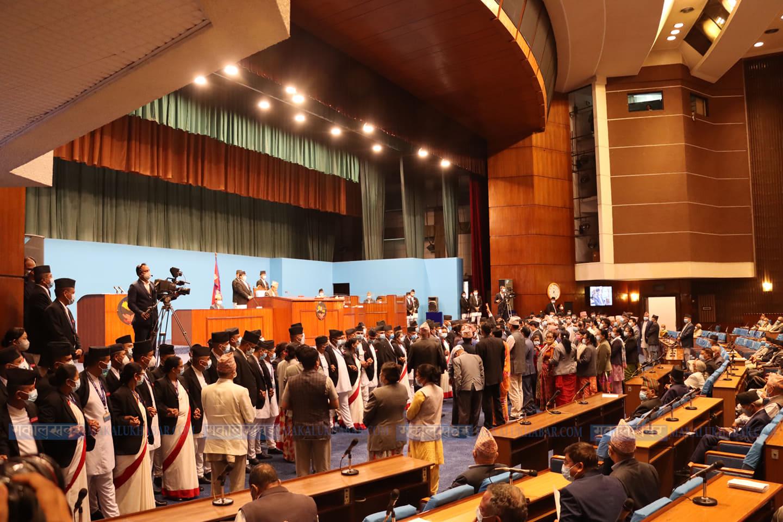 संसद् बैठकको अवरोध हटाउन छलफल
