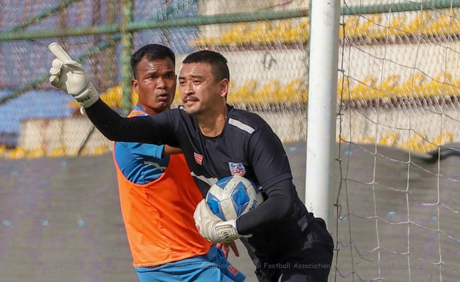 नेपाल-भारत फुटबल : विशालको डेब्यू