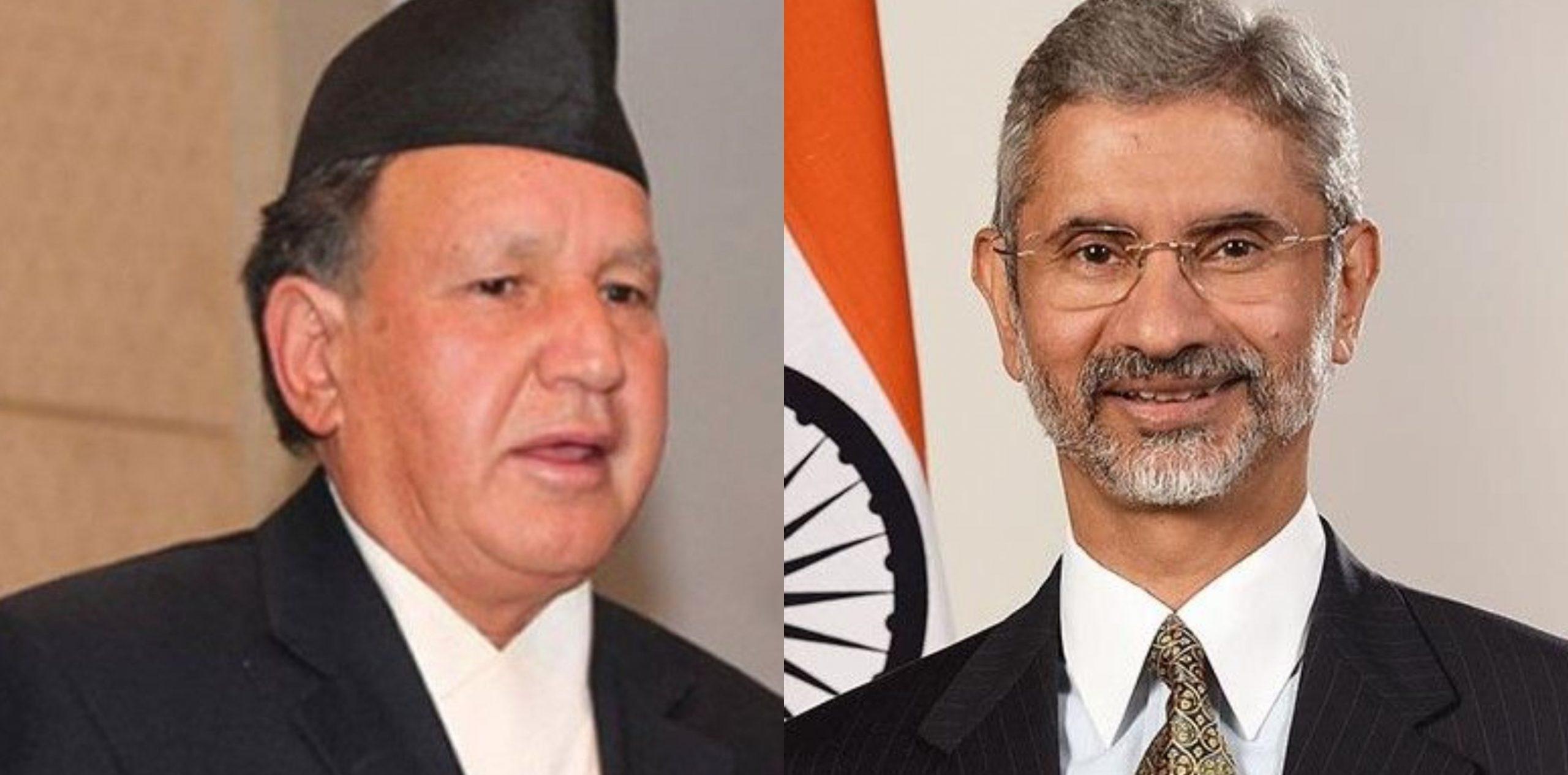 नेपालका परराष्ट्रमन्त्रीसँग सहकार्य गर्न प्रतीक्षारत छु : जयशंकर