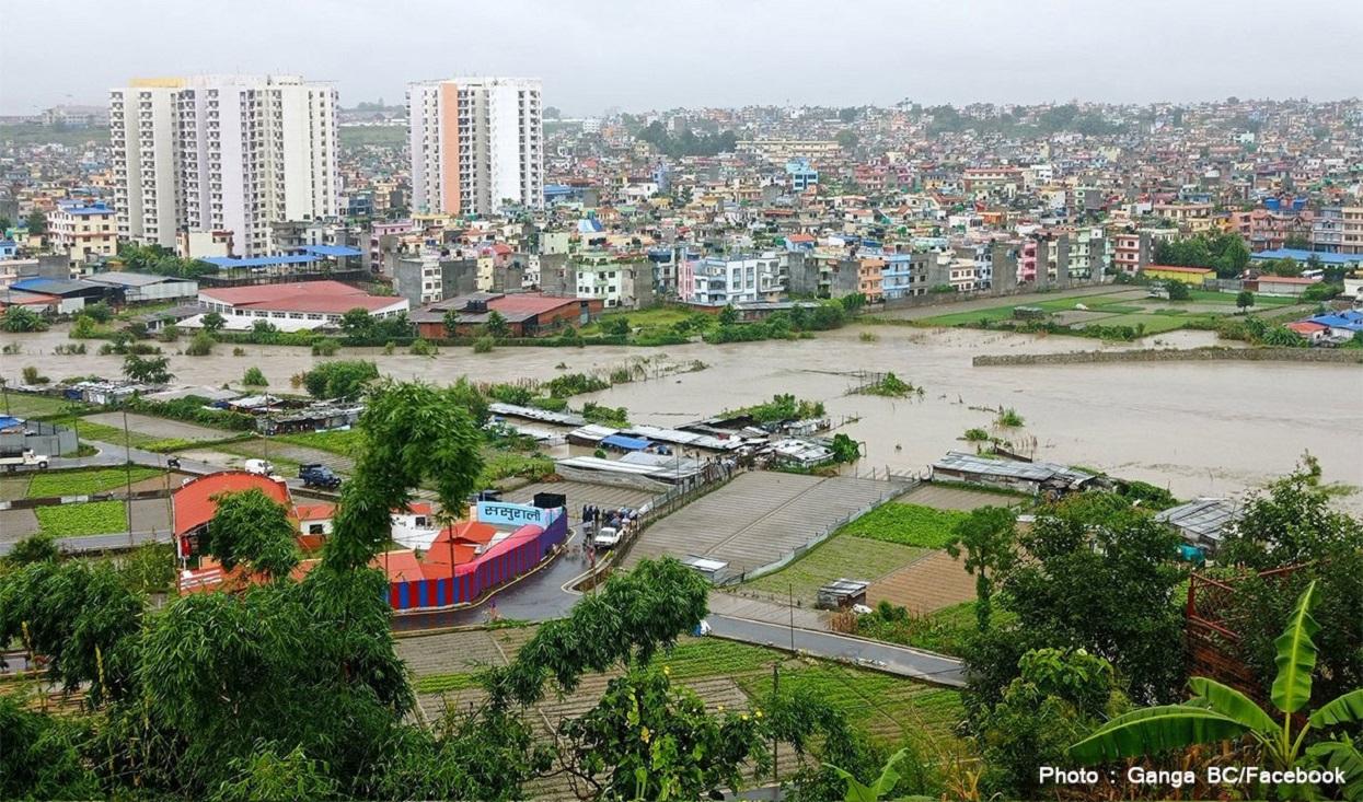 काठमाडौंमा ठूलो वर्षा: ३८५ घर डुबे, २३२ को उद्धार