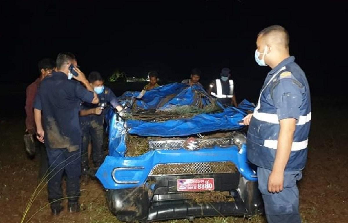 सिस्नेखोलाले कार बगाउँदा चार महिलाको मृत्यु, घाइते चालकको उद्धार