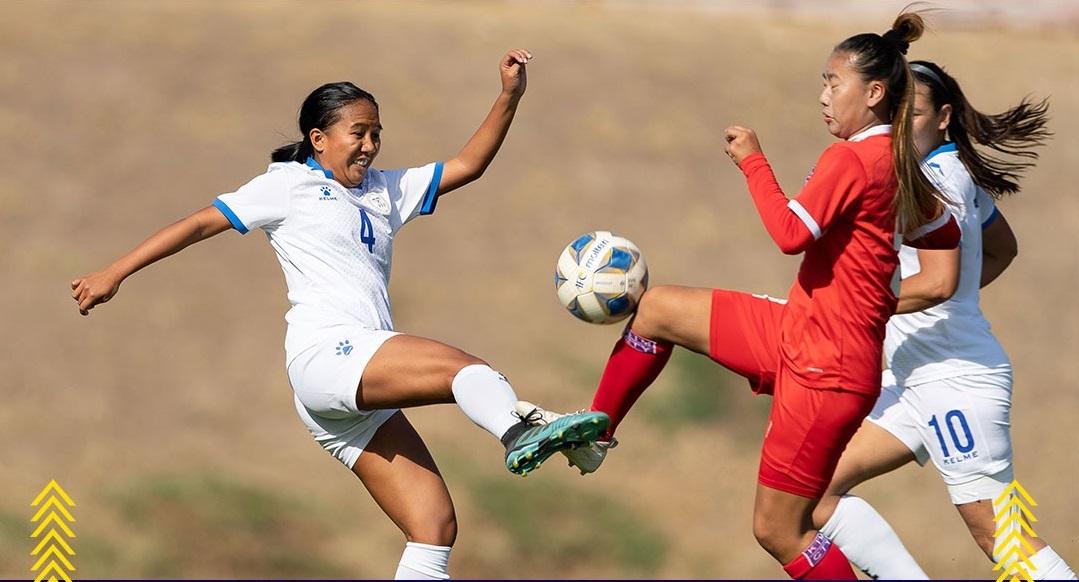 महिला फुटबलमा नेपाल फिलिपिन्ससँग पराजित