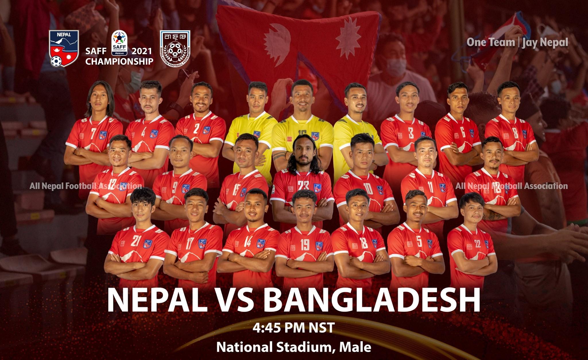 बंगलादेशसँग १४ वर्षदेखि अपराजित नेपाल आज महत्वपूर्ण खेल खेल्दै