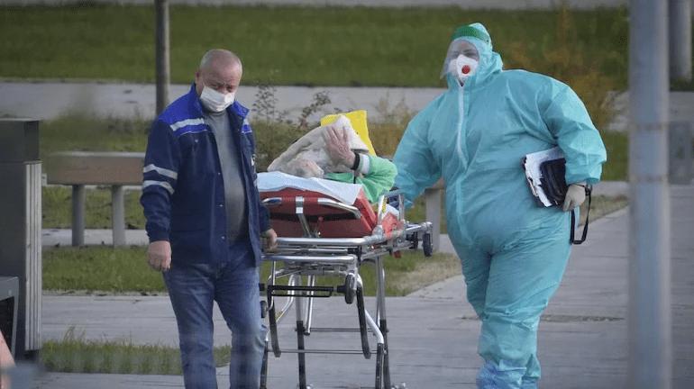 रुसमा पहिलो पटक २४ घण्टामा हजार बढी संक्रमितको मृत्यु