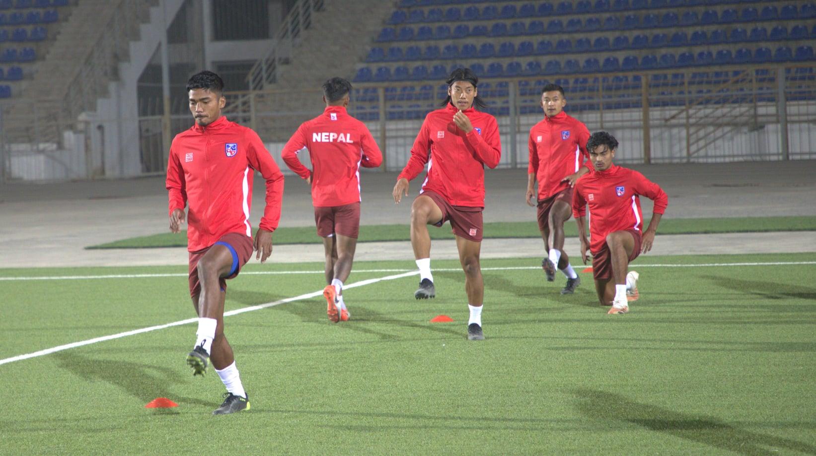 नेपाल र इन्डोनेसियाबीचकाे मैत्रीपूर्ण फुटबल आज